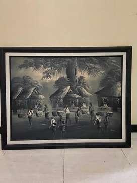3 lukisan Bali premium dengan frame