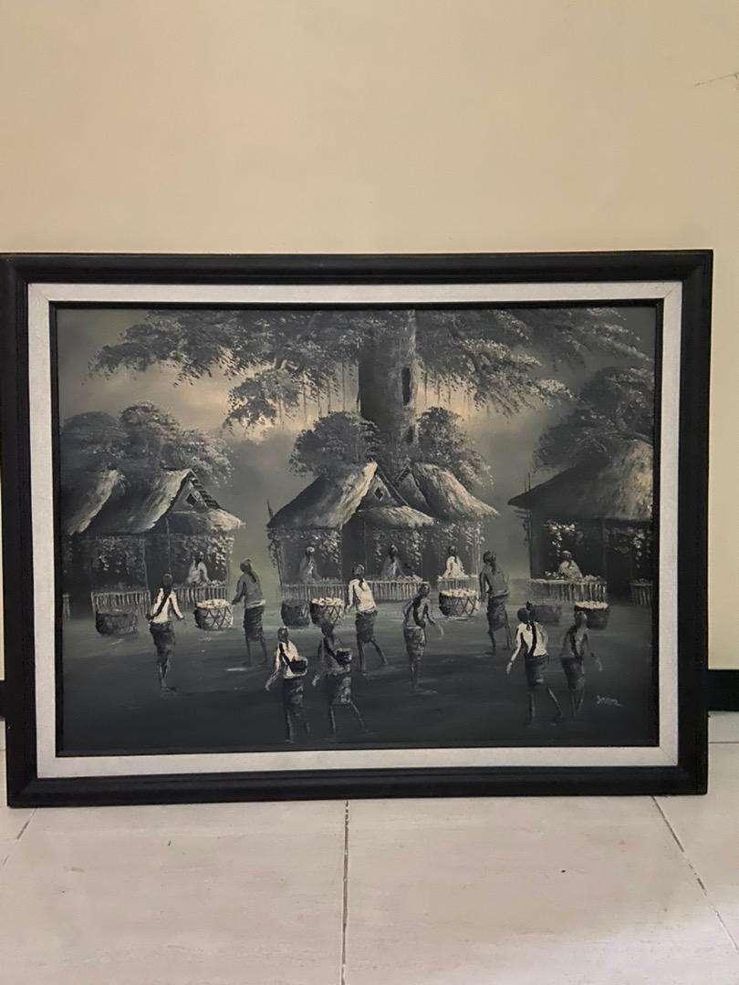 3 lukisan Bali premium dengan frame 0