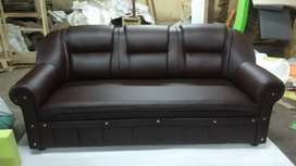 Brand new 3Siter dark brown chusion Sofa For Sale
