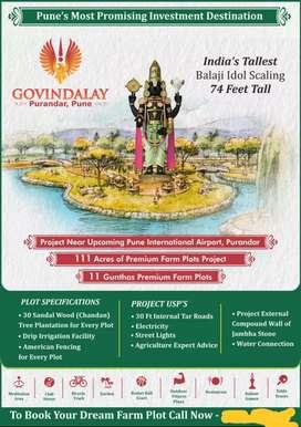 1.5 lakh guntha new balaji temple near saswad