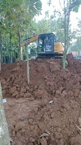 Cut and fill land clearing pengurugan stripping tanah excavator pc50