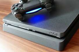 PS4 slim 500GB with External 2TB hard