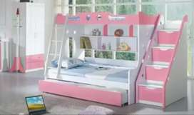 Bunk bed with stair and storage