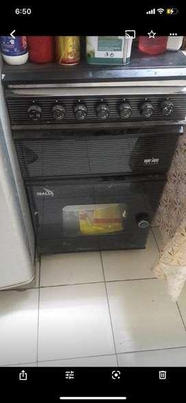 Inalsa 4 burner cooking range