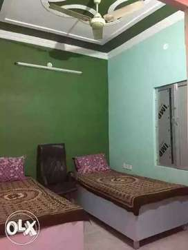 PG in peaceful area Govind Nagar with bed, fan,