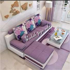 sofa minimalis puff ungu
