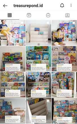 Rak buku anak merk Treasure Pond