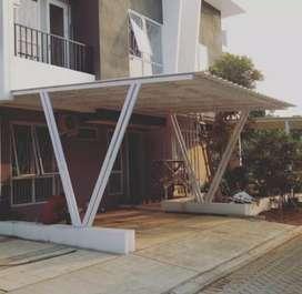 @55 canopy minimalis rangka tunggal atapnya alderon rs anti panas