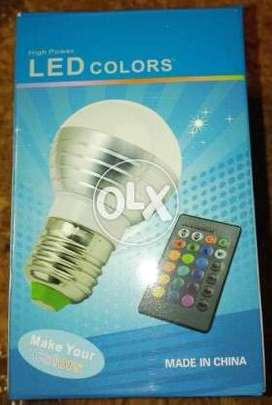 5 WATT LED Bulb E27 16 Colors Changeable with IR Remote Control
