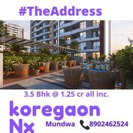 Luxury 3.5 BHK in upper koregoan park at 1.25 cr only