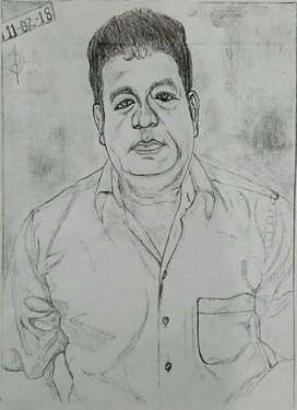 I will make hand made portrait sketch by using a simple pencil