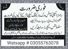 Jobs Holder contect me.