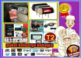 READY PAKET RAMADHAN 2DIN ANDROIDLINK 7INC+MONITOR HEADREST GROSIR