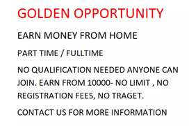Golden Opportunity earn money from home (full time/ part time)