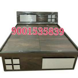 Newww full size branded new wooden double bed with  box