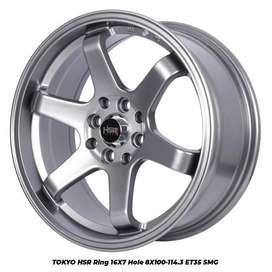 velg type tokyo hsr ring 16x7 8x100/114,3 et40 smg