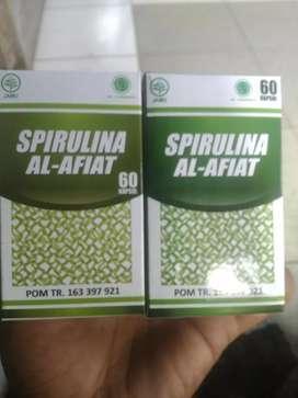 Spirulina tumbuhan laut 60 kapsul herbal kurma gamat zaitun madu otem