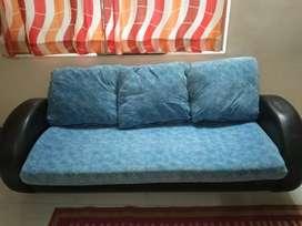 A blue-black color sofa set in a good condition