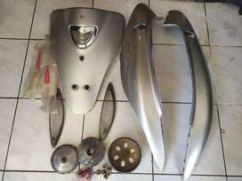 Borongan Parts Body Kymco Metica GLX copotan cabutan pretelan