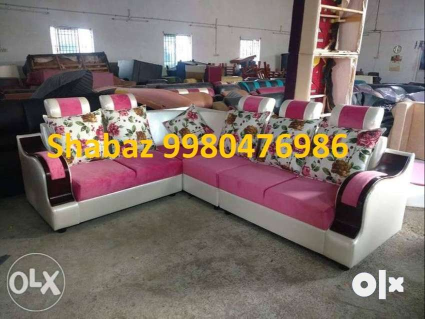 HN55 Corner sofa set with 3 years warranty call us 0