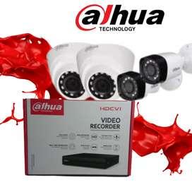 Alat pemantau keamanan, cctv 4 kamera