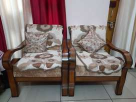 3 piece  Teak wood new sofa with cushions