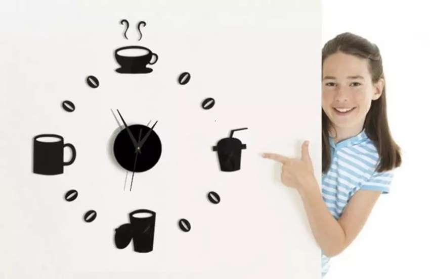 Jam dinding ukuran sedang gelas kopi 0