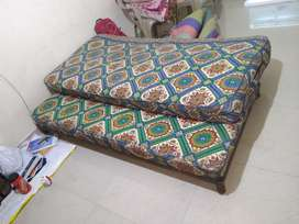 Bed with double spring loaded mattress
