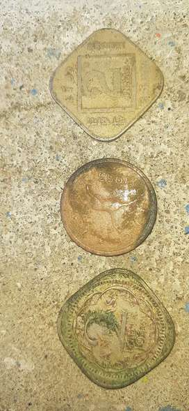 India old coin 1940.1953 copper coin