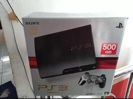 PS 3 Slim spek terbaik Hdd 500 GB isi 50 Game lkp fullset 2 Stik mulus