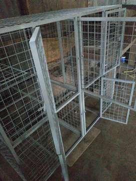 Kandang kucing 2 lantai 4 kamar