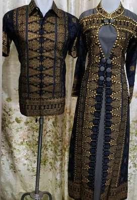 Baju gamis couple bisa beli gamis ny aja atau kemeja nya
