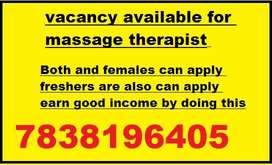 need decent candidates to work as a massage therapist in their city