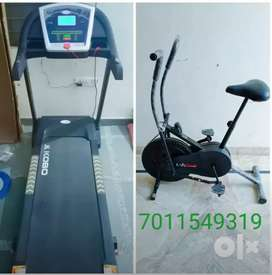 Exercise cycle /- treadmill