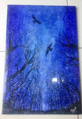Resin coated Canvas painting