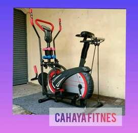 Sepeda statis murah orbitrack platinum alat fitnes