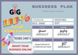 Annual Business Plan Domain+ Hositng+Website+SEO+ SMM+GST website