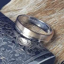 Cincin kawin nikah tunangan perak emas platina palladium custom