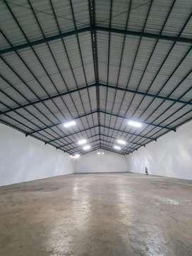 DISEWAKAN Gudang 1150 meter di Jl. Tol Sutami