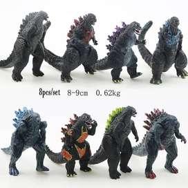 Figure Godzilla 1 set isi 6 pcs Topper Cake Kue Monster Ultraman