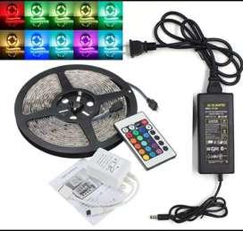 Lampu LED Strip Remote type 5050 multi Warna Free Ongkir