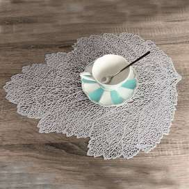 pack of 6 table mats Leaf Shape Rectangle Round Shape
