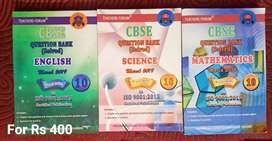 CBSE QUESTION BANK English, Science, Mathematics for 10th standard