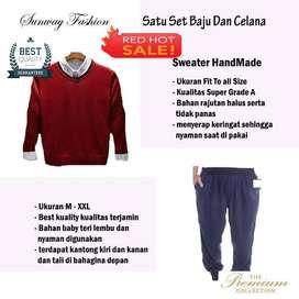 AM00252 Celana Setelan Satu set Sweater dan celana jogger