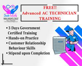 3 DAY FREE HPMP RPL FIELD A.C TECHNICIAN TRAINING WITH STIPEND