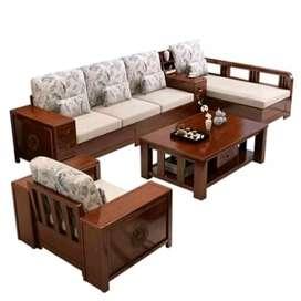 Sedia kursi tamu sofa kerangka jati#2144