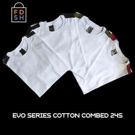 Baju kaos Evo series combed24s