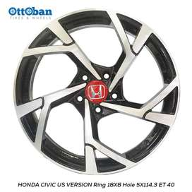 JUAL VELG HONDA CIVIC US VERSION R18X8 H5X114,3 ET40 HRV BRV CRV.