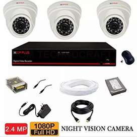 3 HD CCTV Indoor Camera installation