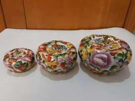 Pajangan Guci Keramik Porselen Labu Kuno Lawas Vintage Unik Antik